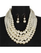 Always Busy Pearl Necklace Set - Cream