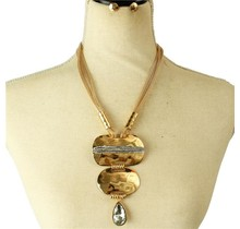 Only You Necklace Set - Gold/Clear