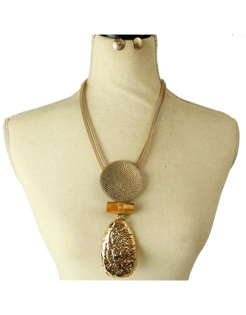 More For Me Necklace Set - Gold