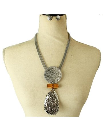 More For Me Necklace Set - Silver