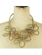 Bloomed Necklace Set - Gold