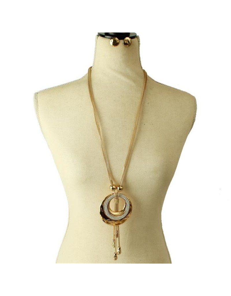 Caught In The Loop Necklace Set - Gold