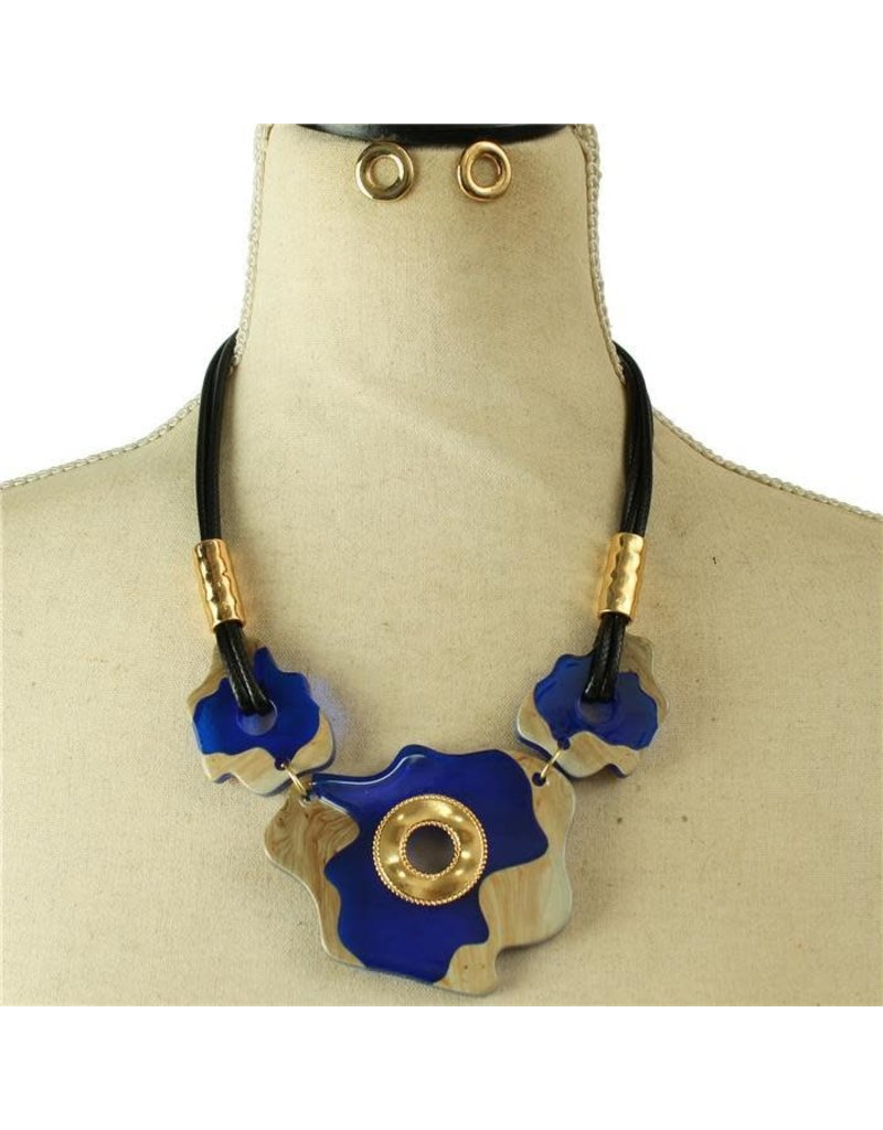 Something Unique Necklace Set - Royal Blue