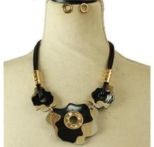 Something Unique Necklace Set - Black