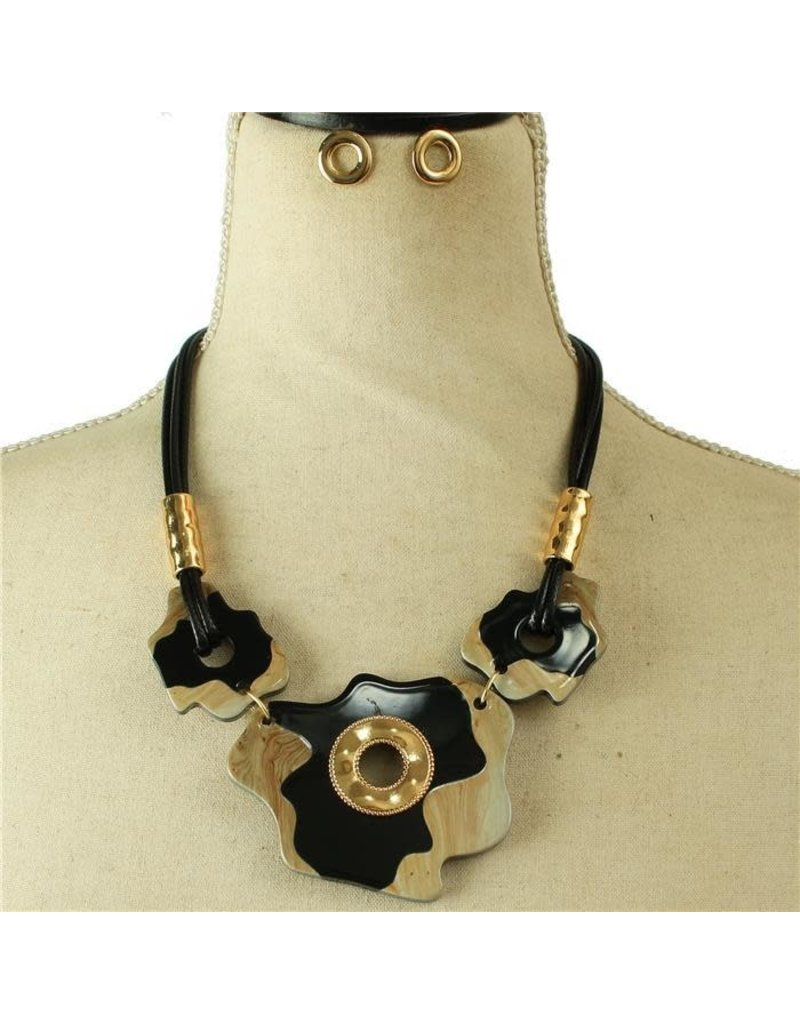 Something Unique Necklace Set - Black