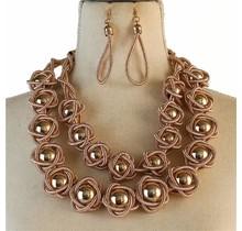 Never Blending In Necklace Set - Rose Gold