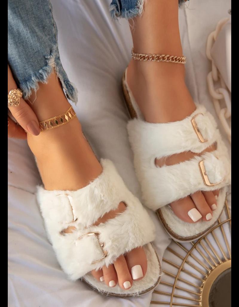 Fur Ever Yours Slides - Ivory
