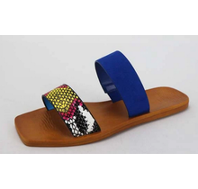 Natural Instinct Sandals - Blue Snakeskin