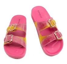 Bliss Rhinestone Slides - Pink