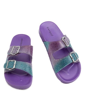 Bliss Rhinestone Slides - Purple