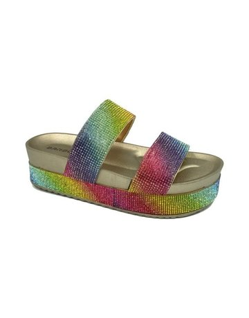 Enchanted Rhinestone Flatform - Rainbow