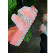 Cozy Vibes Platform Sandals - Blush