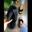 Warm Wishes Platform Sandals - Black