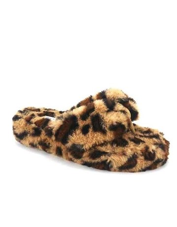 Warm Wishes Platform Sandals - Leopard