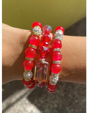 Cherry Pop Bracelet Stack