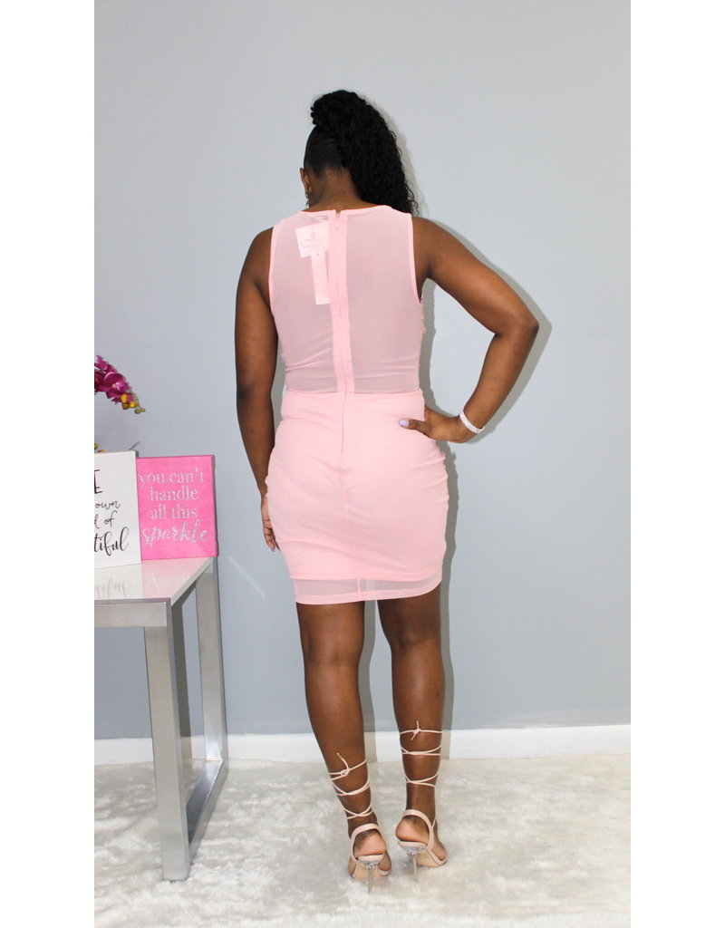 Second Chance Lace Mesh Dress