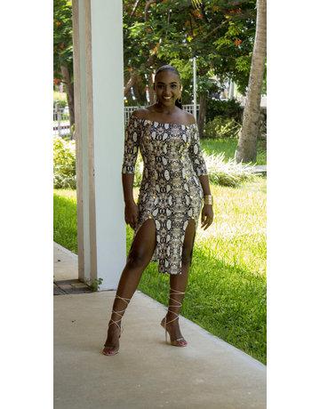 Knockout Snakeskin Dress