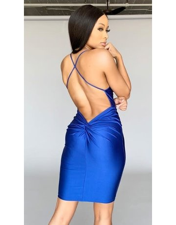 Electrifying Twist Bodycon Dress