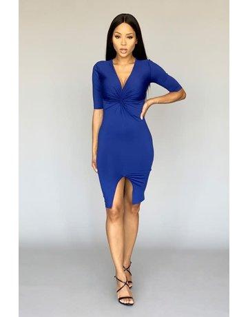 Twist Of Attention Bodycon Dress