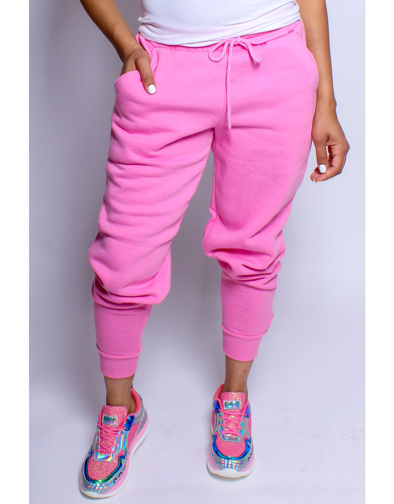 Still Cozy Joggers - Candy Pink