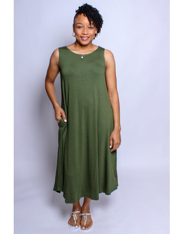 The Easy Life Dress - Army Green