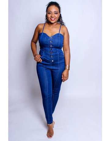What A Sweetheart Denim Jumpsuit