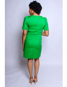 Playing It Safe Dress - GREEN