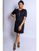Playing It Safe Dress - BLACK