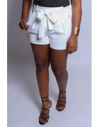 Tied Together Shorts White