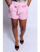 Tied Together Shorts Mauve