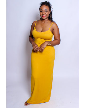 Keep Me Around Maxi Dress - MUSTARD