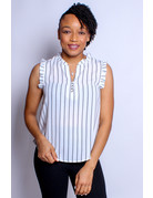 Classic Choice Striped Top - White
