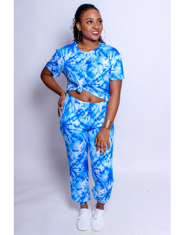 Vibe With Me Tie Dye Set - Blue