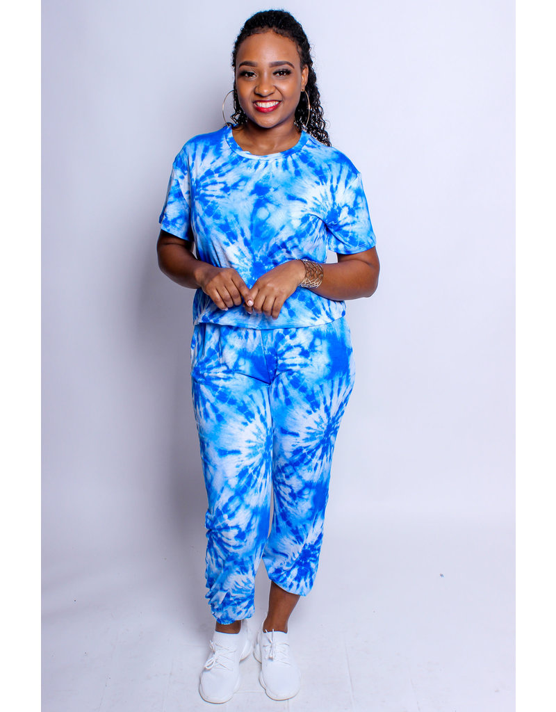 Vibe With Me Tie Dye Set - Blue
