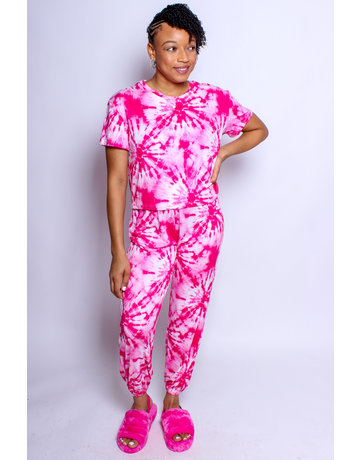 Vibe With Me Tie Dye Set - Pink
