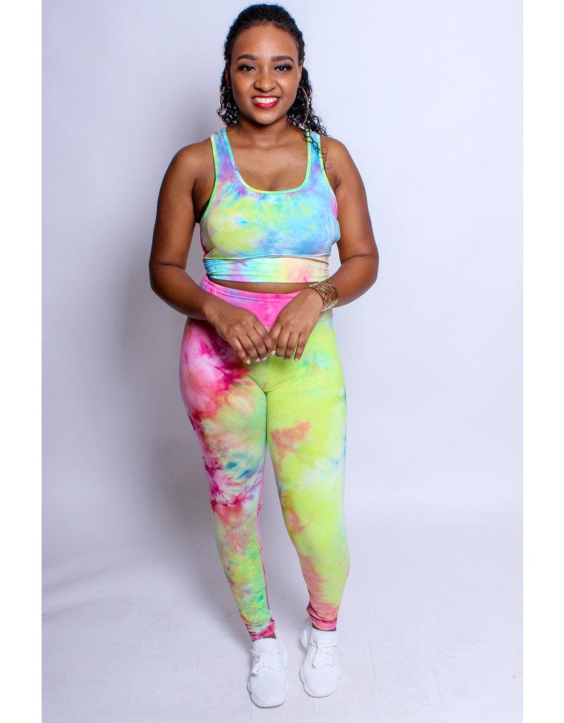Trendsetter Tie Dye Bra & Leggings Set - Multi