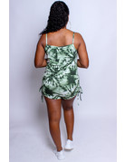 Up Tight Tie Dye Romper - Olive