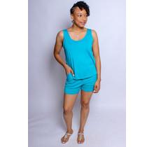 Lounge Around Shorts Set - Jade