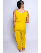 Limitless Drawstring Jumpsuit - Mustard