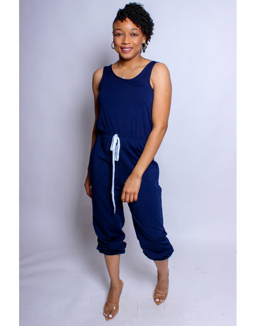 Limitless Drawstring Jumpsuit - Navy