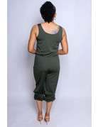 Limitless Drawstring Jumpsuit - Olive