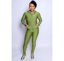 Active Lifestyle Hoodie & Legging Set - Green