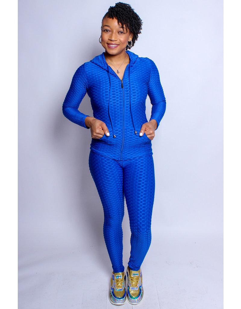 Active Lifestyle Hoodie & Legging Set - Royal Blue