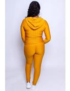Active Lifestyle Hoodie & Leggings Set - Mustard