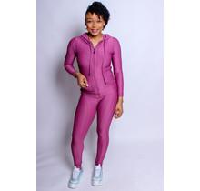 Active Lifestyle Hoodie & Leggings Set - Purple