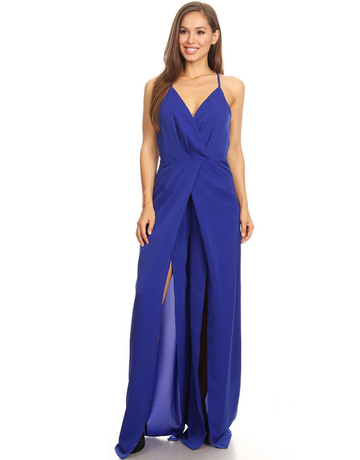 Drop The Mic Jumpsuit Royal Blue