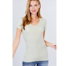 Misty Sage V Neck T-shirt