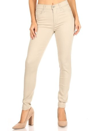 Good Days High Rise Skinny Jeans - Stone