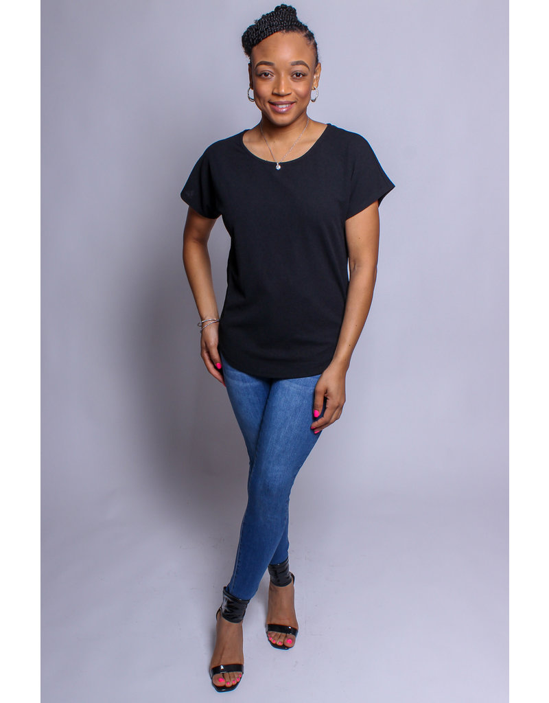 No Ifs Or Buttons Top - BLACK