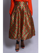 Boxed In Tribal Skater Skirt